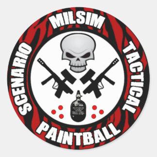 Scenario Milsim Paintball Decal Round Sticker
