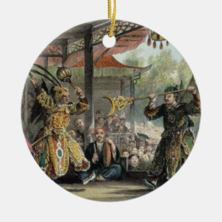 Scene from the Spectacle of 'The Sun and Moon', fr Christmas Ornament