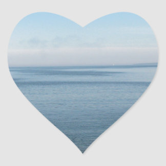 Scene of Peacefulness Heart Stickers