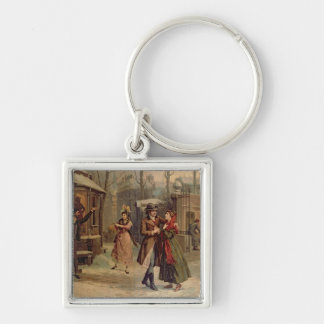 Scenery for the scene with Mimi and Rodolfo Key Ring