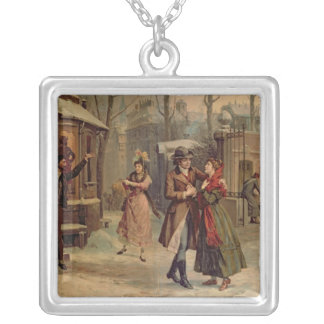 Scenery for the scene with Mimi and Rodolfo Silver Plated Necklace