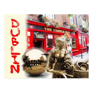 Scenes from Dublin, Ireland Postcard