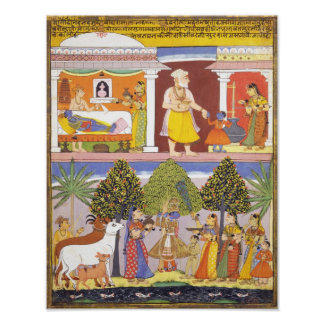 Scenes from the Childhood of Krishna Poster