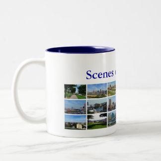 Scenes of Baltimore Two-Tone Coffee Mug