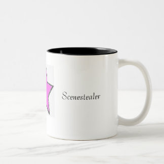 Scenestealer Star by GiaMia Two-Tone Coffee Mug