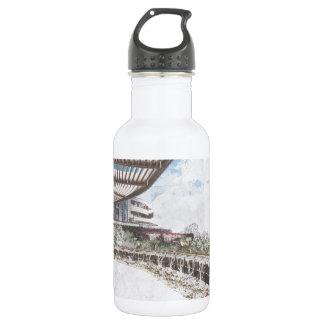 Scenic Hillside Architecture 532 Ml Water Bottle
