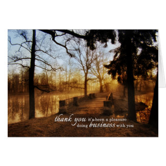 Scenic Landscape Business Thank You Card