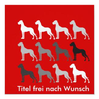 Schlichte Doggen Card