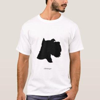 Schnauzer - black Silhouette T-Shirt