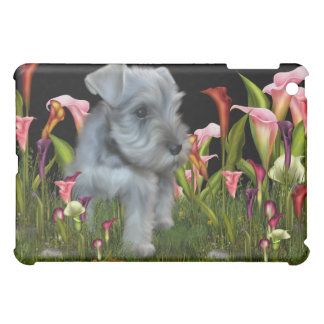 Schnauzer Calla Lily Black  Cover For The iPad Mini