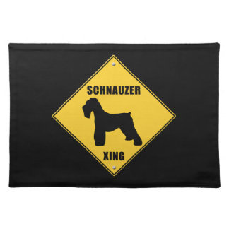 Schnauzer Crossing (XING) Sign Placemat