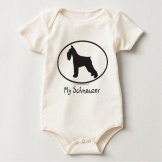 Schnauzer/Dog Baby Bodysuit