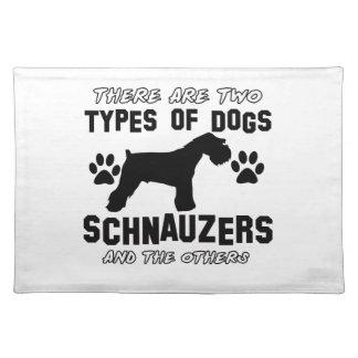 Schnauzer dog Designs Placemat