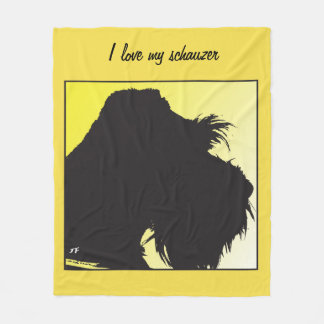 Schnauzer Fleece Blanket