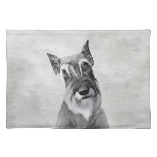 Schnauzer (Giant) - Cute Original Dog Art Placemat