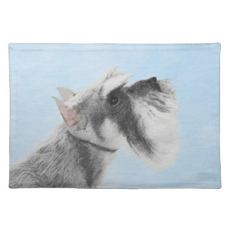 Schnauzer (Giant, Standard) 2 Painting - Dog Art Placemat