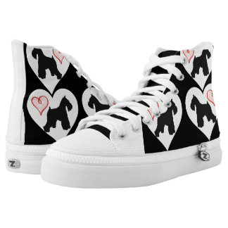 Schnauzer Heart Shoes Printed Shoes