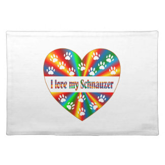 Schnauzer Love Placemat