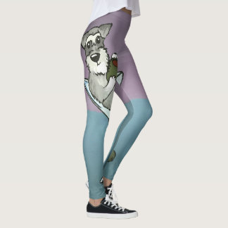 Schnauzer Martini Leggings