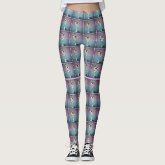Schnauzer Martini Tile Leggings