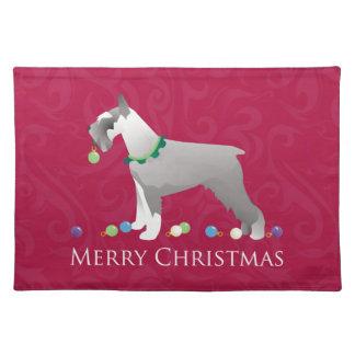 Schnauzer Merry Christmas Design Placemat