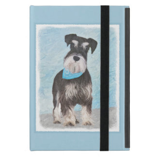 Schnauzer (Miniature) Painting - Cute Original Dog Case For iPad Mini