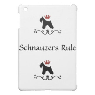 Schnauzer Rule iPad Case