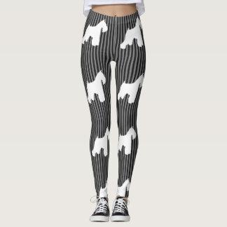 Schnauzer Stripes Leggings