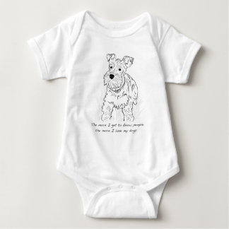 Schnauzer The More I Love My Dogs Tees