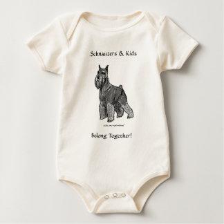 Schnauzers & Kids Belong Together! Infant Baby Bodysuit