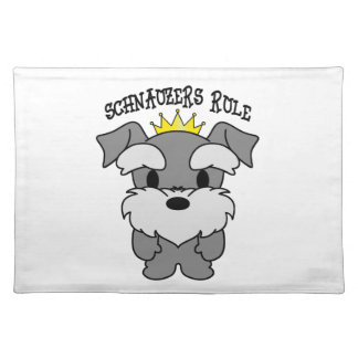 Schnauzers Rule Placemat