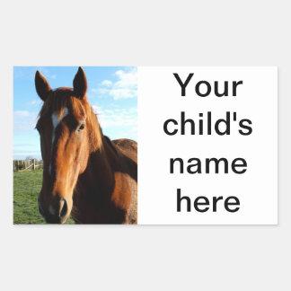 School Book Stickers Horse Pony