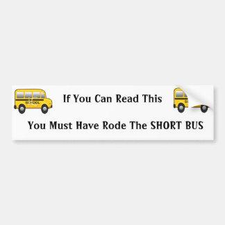 school bus, school bus, If You Can Read This  Y... Bumper Sticker