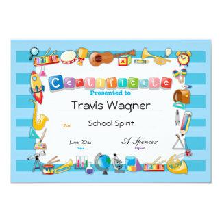 School Certificate 13 Cm X 18 Cm Invitation Card