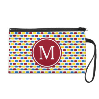 School Days Kindergarten Beads Monogram Wristlet