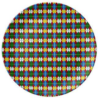 School Days Palette Argyle Inspired Plate