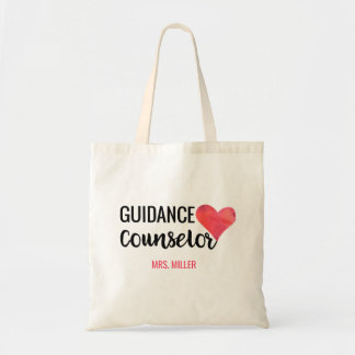 School Guidance Counselor Personalized Watercolor Tote Bag