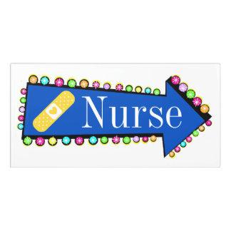 School Hallway Directions to Nurse Sign Door Sign