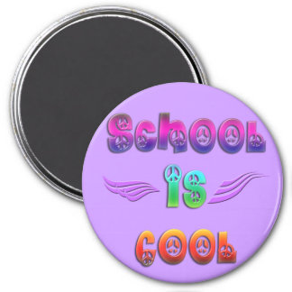 School is Cool - Peace Refrigerator Magnets