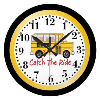 School is Cool School bus Clock
