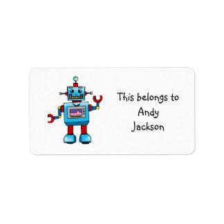 School Labels ( robot )