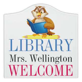 School Library Classroom Door Sign
