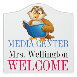 School Library Media Center Classroom Door Sign