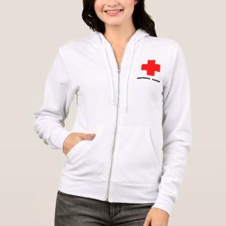 School Nurse zip up hoodie