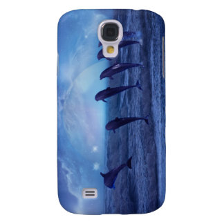 School of dolphins by moonlight galaxy s4 case