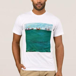 School of Fish Among Lines by Thornton Utz T-Shirt