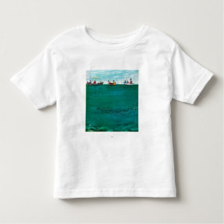 School of Fish Among Lines by Thornton Utz Toddler T-Shirt