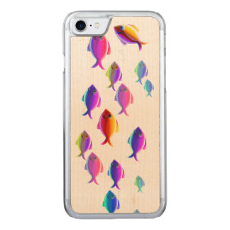 School of Fish Carved iPhone 8/7 Case