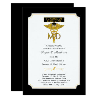 School of Medicine Doctor | Physician Graduation Card
