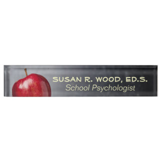 School Psychologist's Retro Blackboard Name Plate